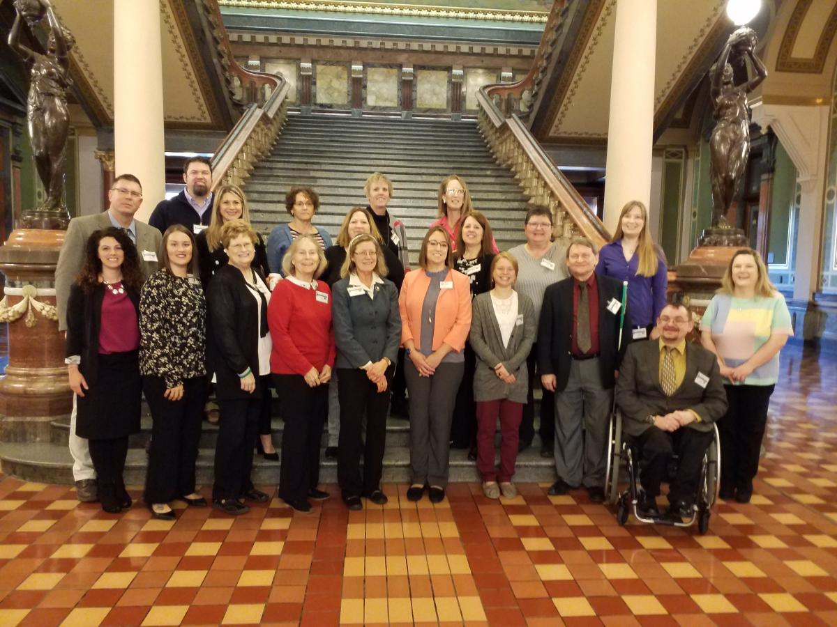 SRC Members and IVRS Staff were at the capitol for the 2020 Legislative Reception